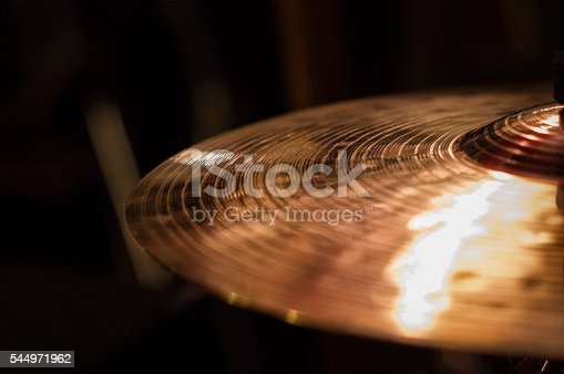istock Close up of cymbal on drumkit, on the right 544971962