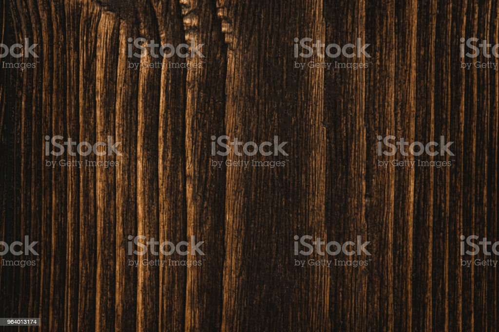 Close up of dark brown wood texture with natural striped pattern background - Royalty-free Abstract Stock Photo