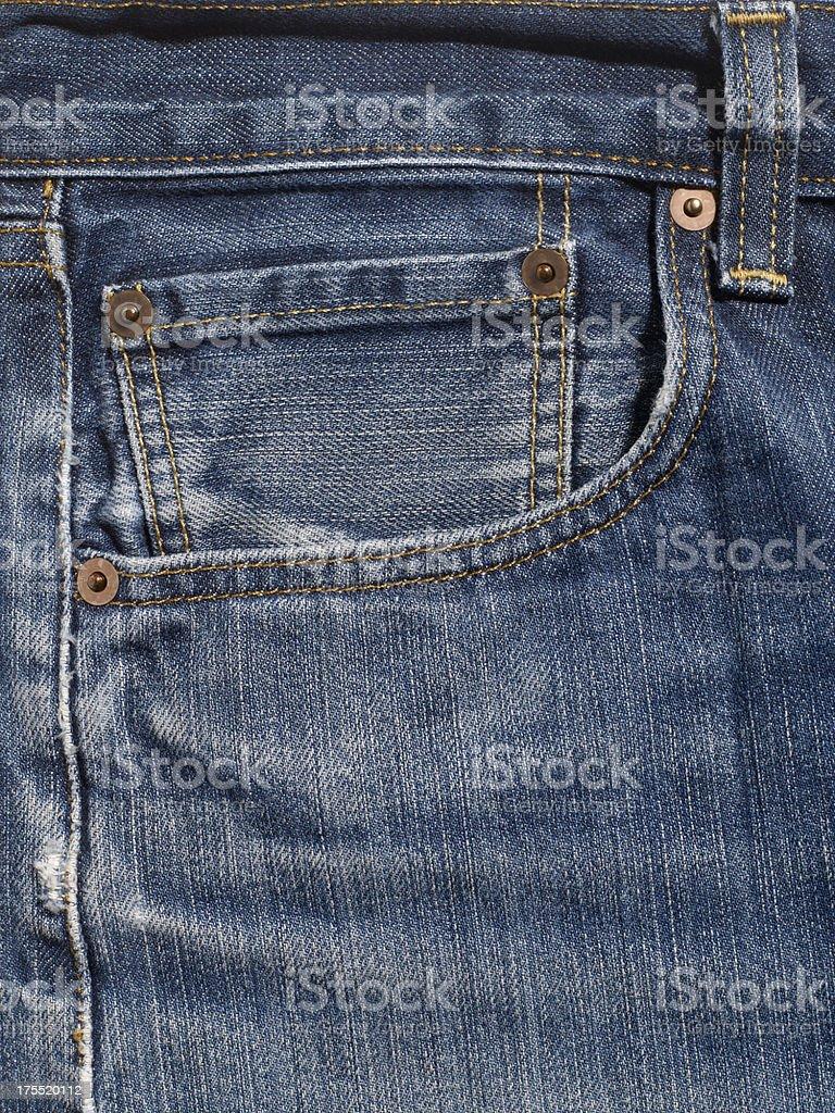 Close Up of Denim Jean Pocket. royalty-free stock photo