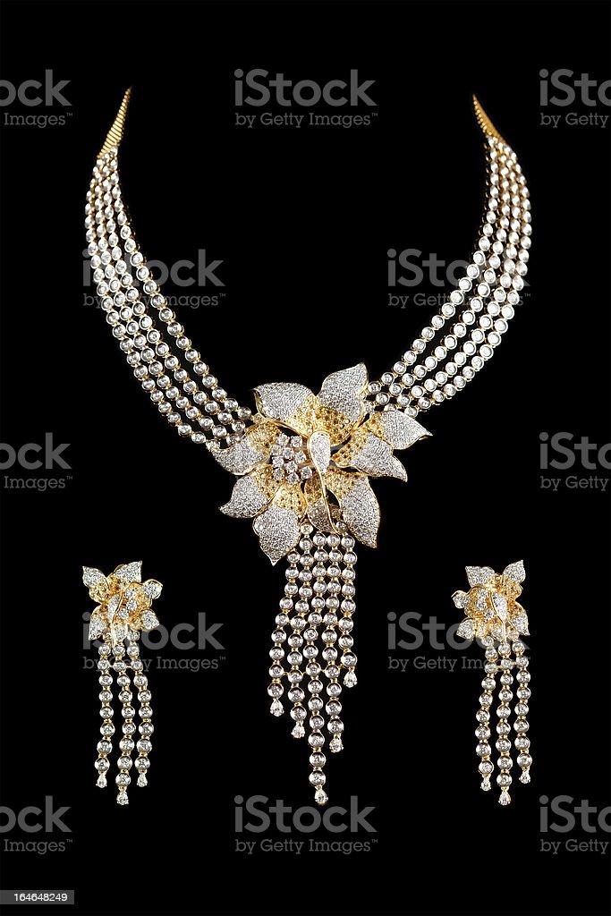 Close up of diamond necklace royalty-free stock photo