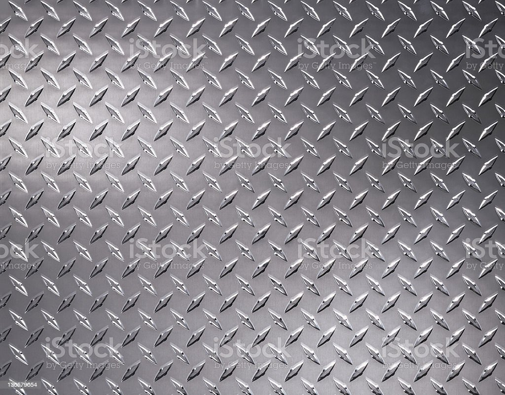 Close up of diamond plate steel sheeting royalty-free stock photo