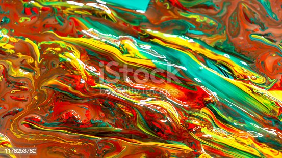 istock Close up of different acrylic color oil paint abstract background 1178253782