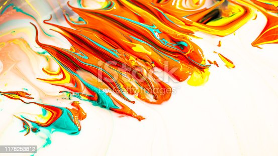 935916462istockphoto Close up of different acrylic color oil paint abstract background 1178253812
