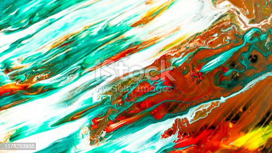 638820556istockphoto Close up of different acrylic color paint abstract background 1178253935