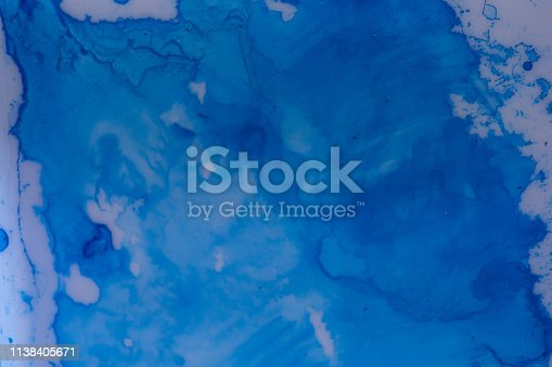 istock Close up of different color oil paint, Patterns or backgrounds of various colors, colors on the fabric. 1138405671