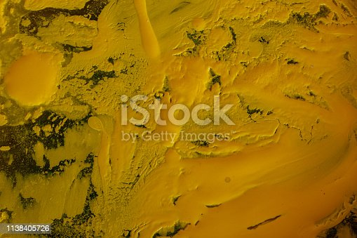 istock Close up of different color oil paint, Patterns or backgrounds of various colors, colors on the fabric. 1138405726