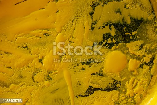 istock Close up of different color oil paint, Patterns or backgrounds of various colors, colors on the fabric. 1138405753