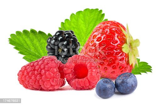 177495131 istock photo Close up of different mixed berry fruits 174676531