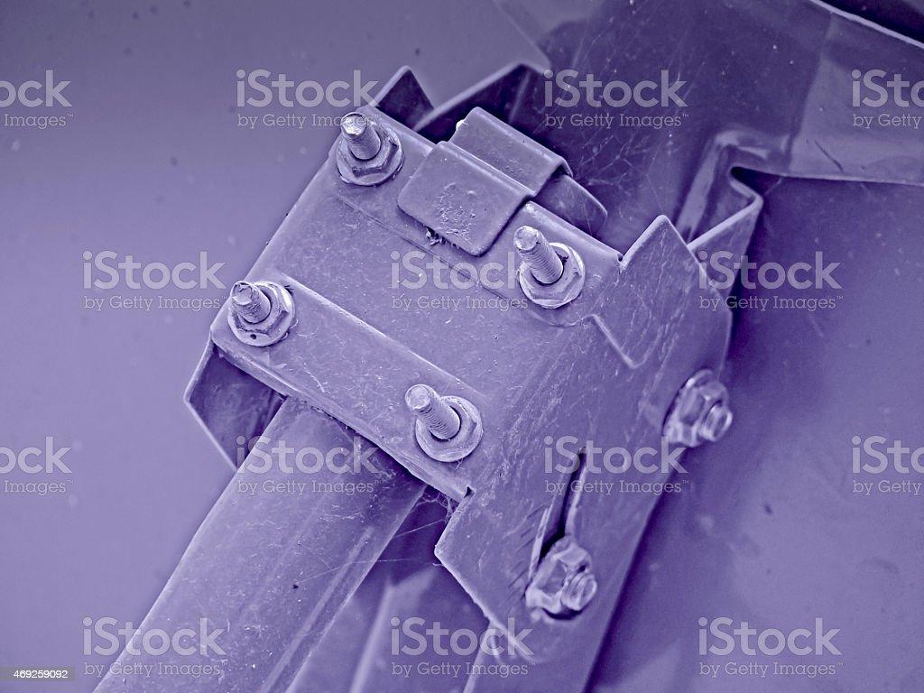 Close up of  dish antenna of a television set stock photo