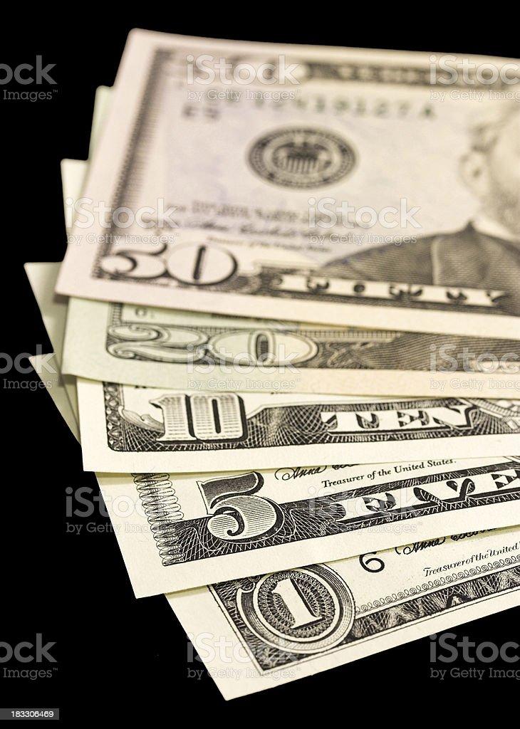 Close up of dollar royalty-free stock photo