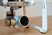 Close up of drone camera