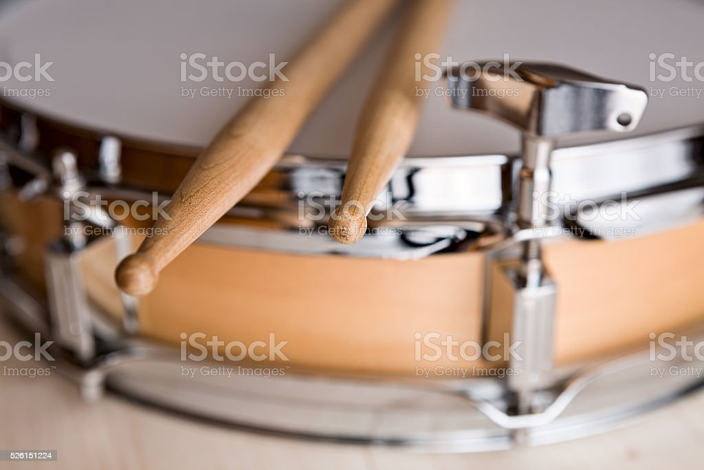 Close up of drumsticks stock photo