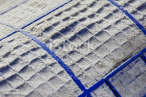 931591820 istock photo Close up of dust and dirty on air conditioner filter. 1188426084