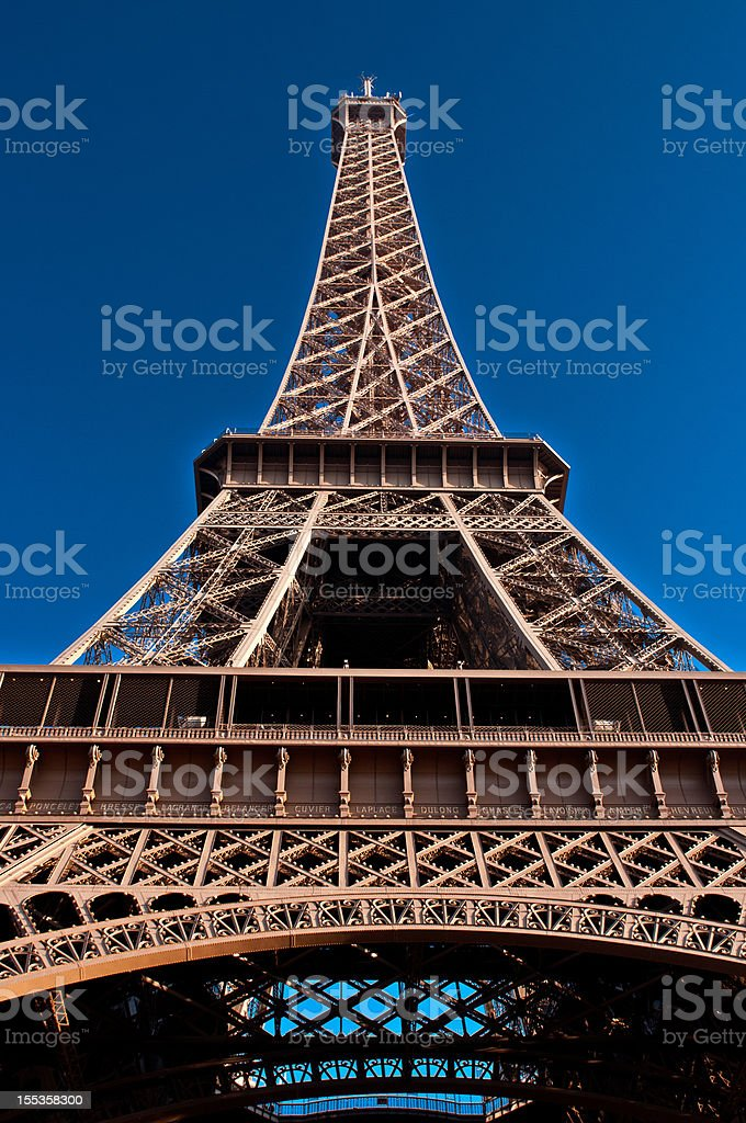 Close up of Eiffel Tower royalty-free stock photo