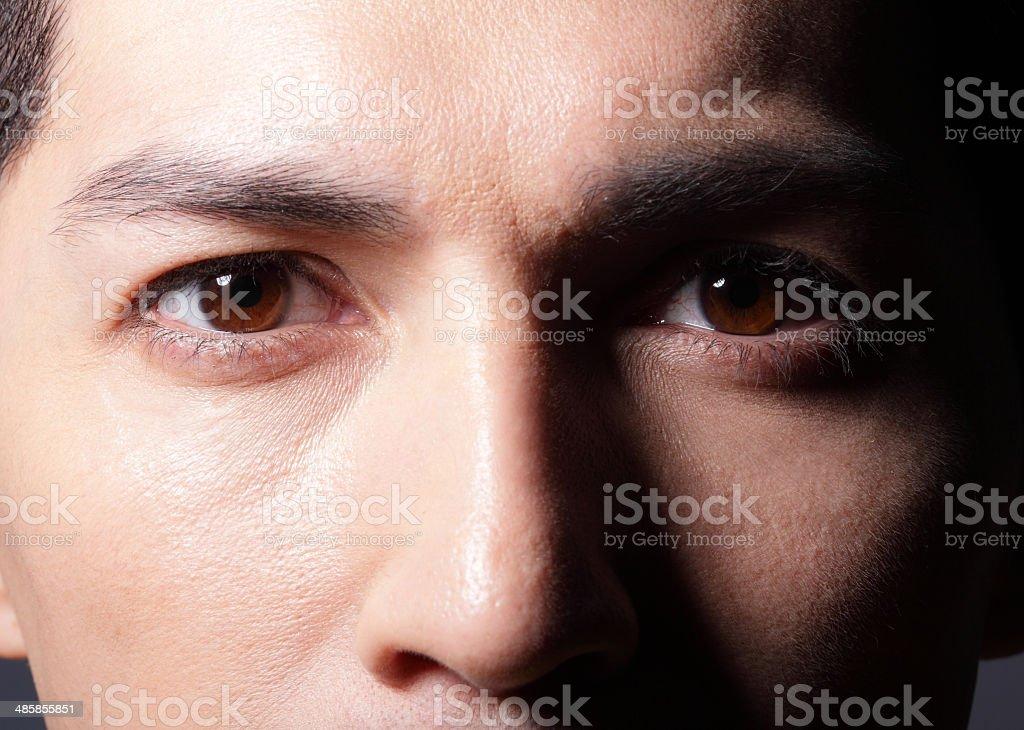 Close up of eyes stock photo