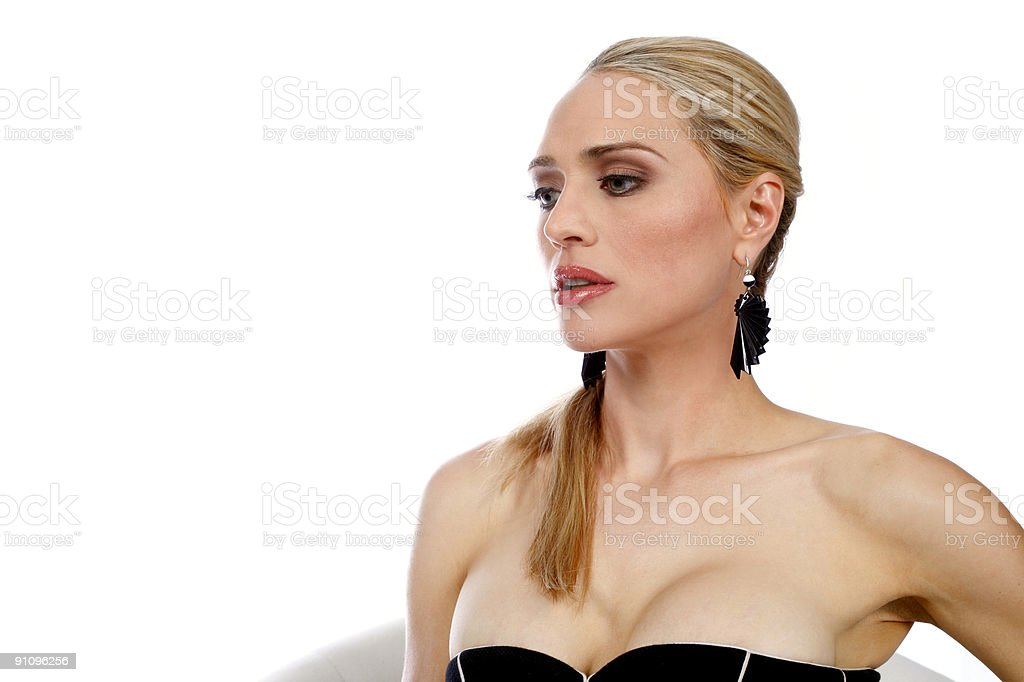 close up of fashionable blond royalty-free stock photo