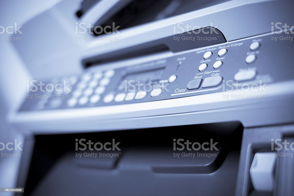 Close Up of Fax Machine stock photo