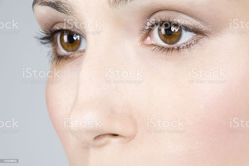 Close up of female eyes stock photo