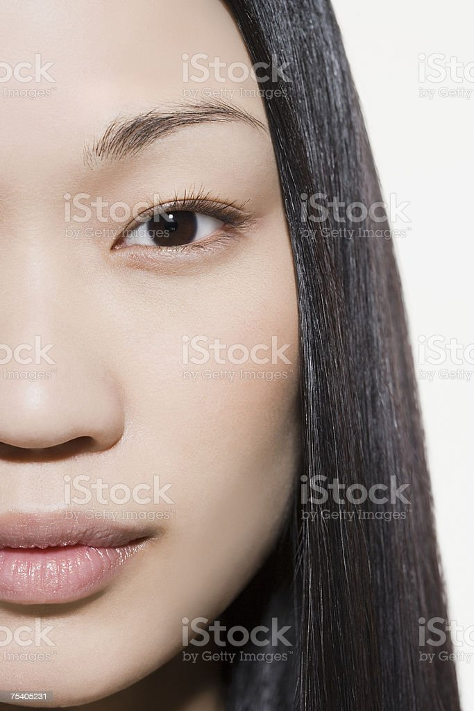 Close up of female face stock photo