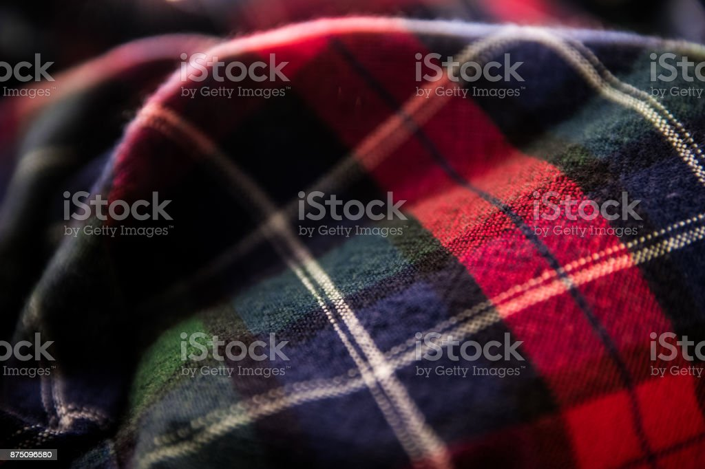 Close up of Flannel Shirt stock photo