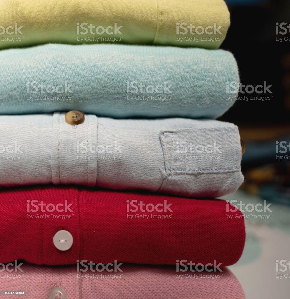 Close up of folded shirts - No people