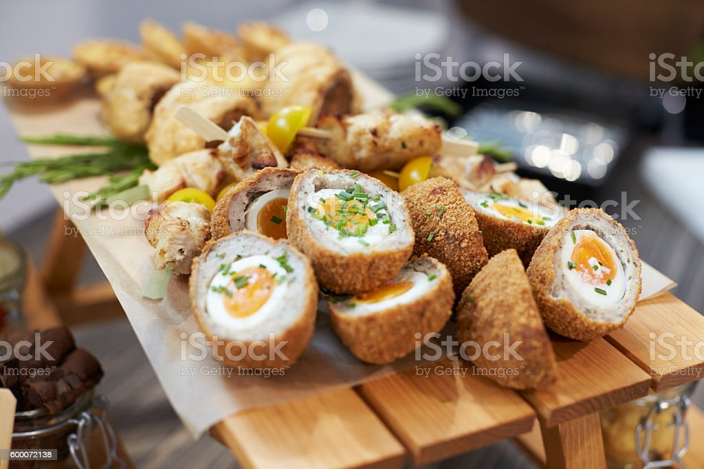 Close Up Of Food At Conference Lunch Buffet stock photo