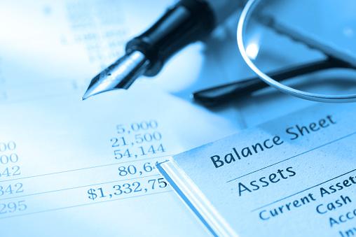 A balance sheet.