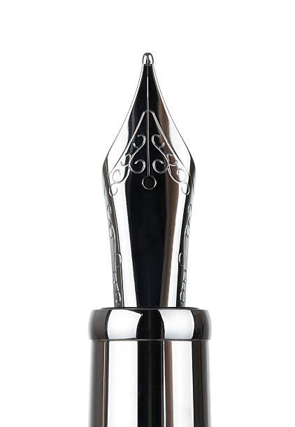 close up of fountain pen - stålpenna bildbanksfoton och bilder