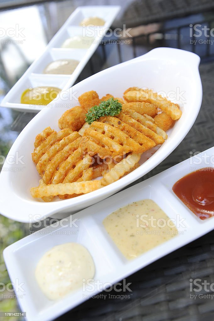 Close up of french fries royalty-free stock photo