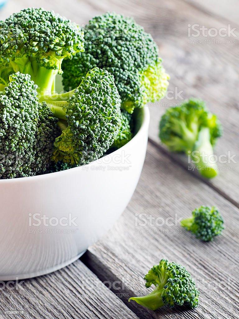 Close up of fresh broccoli stock photo