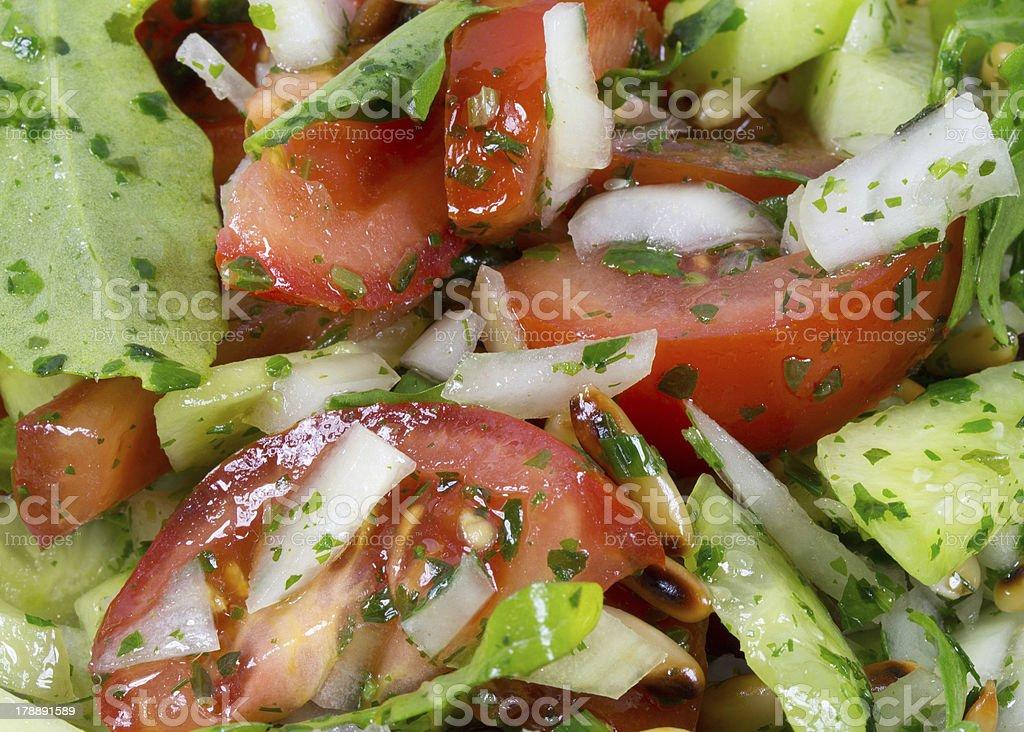 Close up of fresh salad royalty-free stock photo