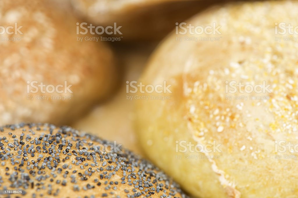 Close up of freshly baked buns stock photo