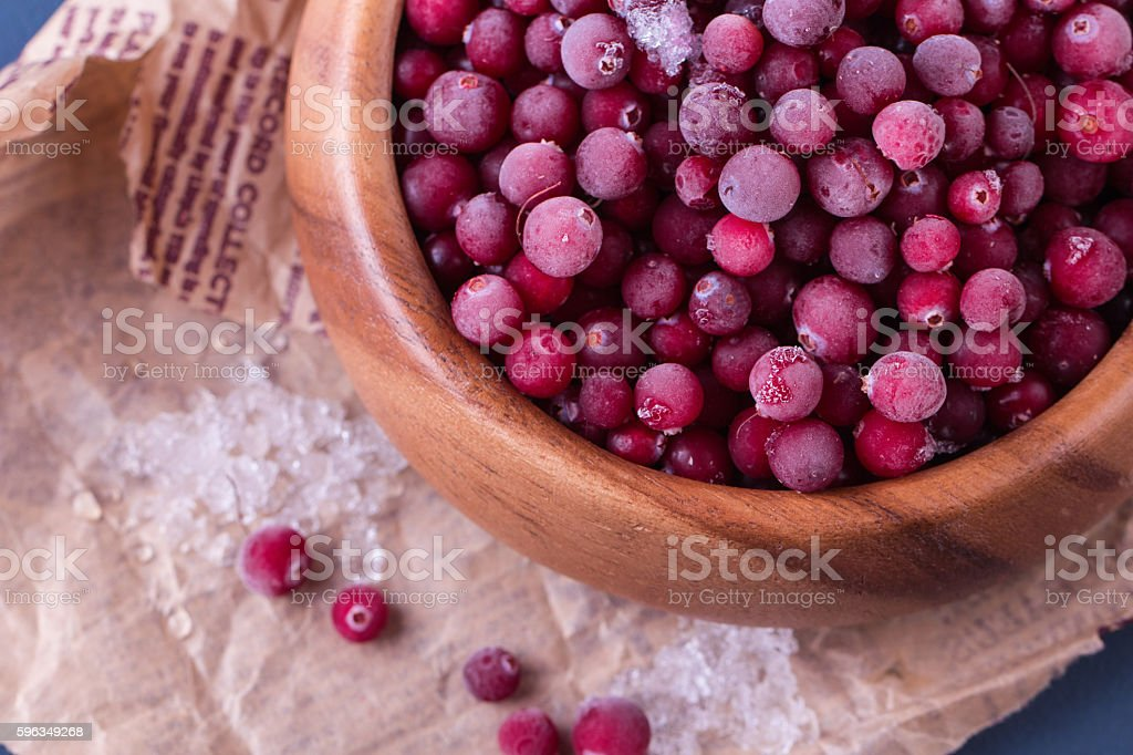 Close up of frozen cranberries royalty-free stock photo