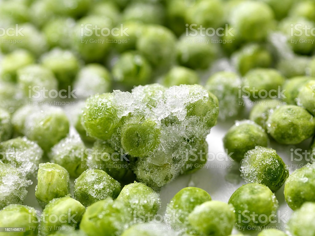 Close up of Frozen Peas royalty-free stock photo