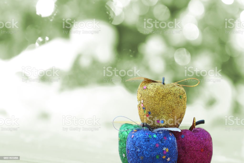 Close Up of fruit bauble a decorated Christmas royalty-free stock photo