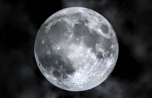 close up of full moon in cloud - moon stock pictures, royalty-free photos & images