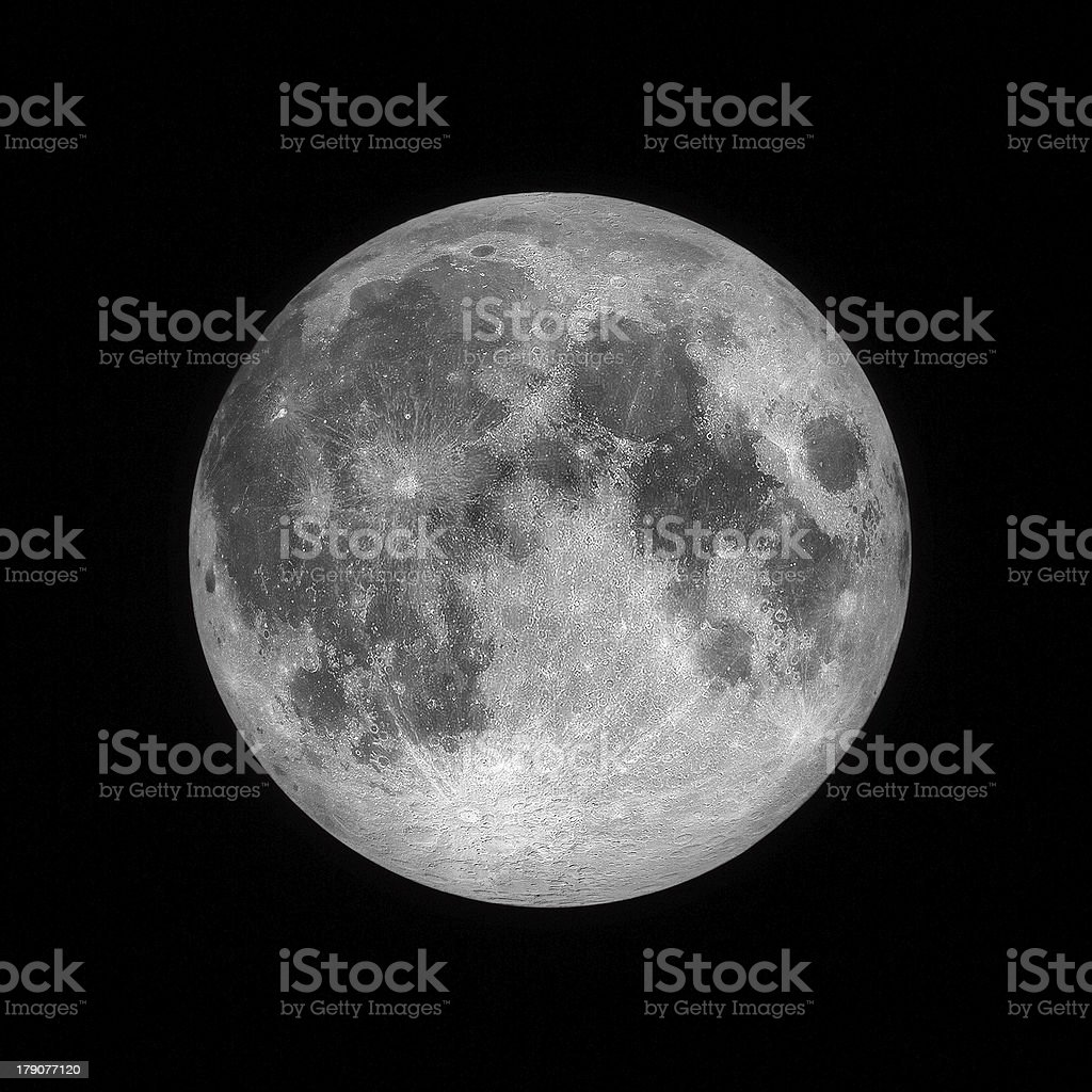 Close up of Full moon stock photo