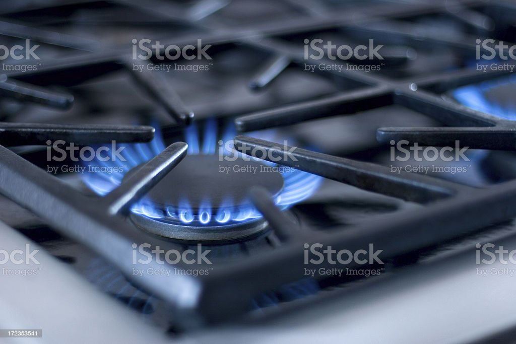 Close up of Gas Range royalty-free stock photo