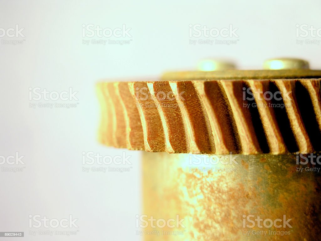 Close up of Gear on a Shaft royalty-free stock photo