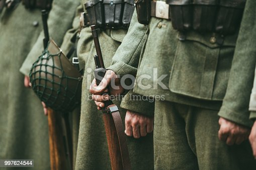 1061204700 istock photo Close up of german military ammunition of a German soldier 997624544