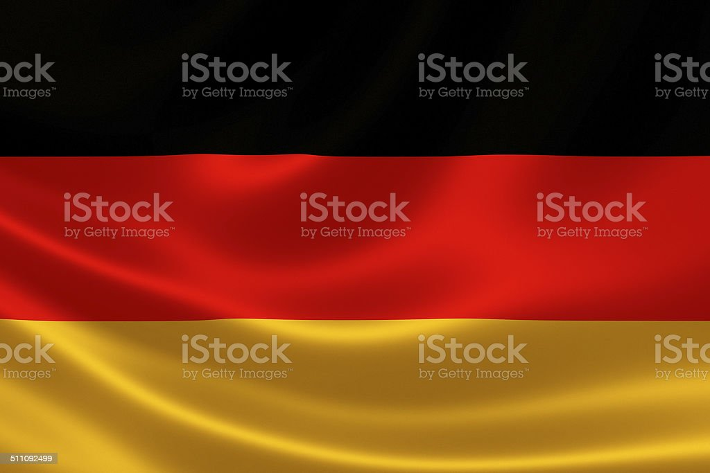 Close up of Germany's Flag stock photo
