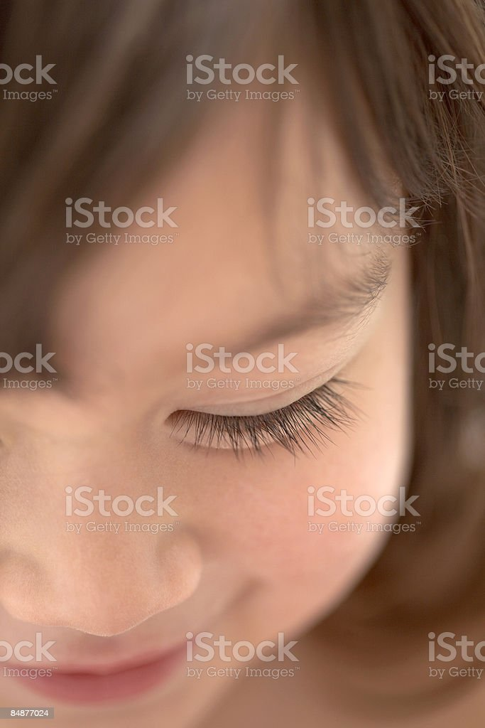 close up of girl royalty-free stock photo