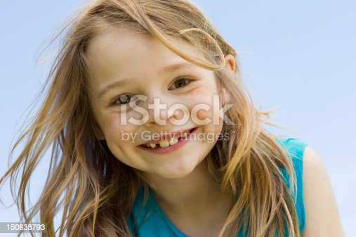 istock Close up of girls smiling face 150638793
