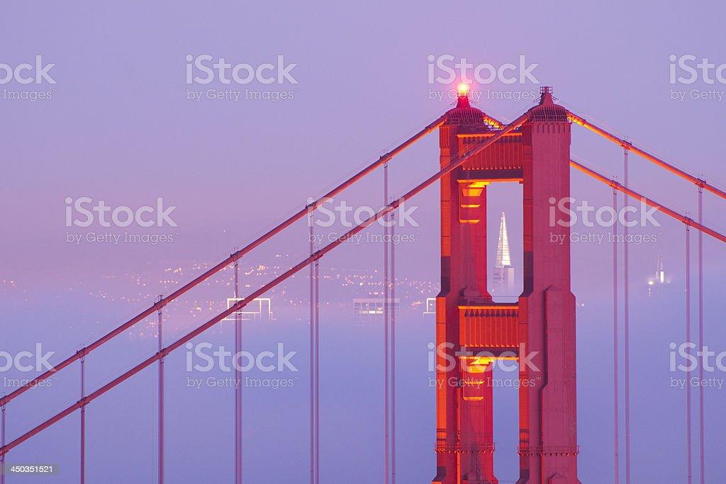 Close up of Golden Gate Bridge royalty-free stock photo