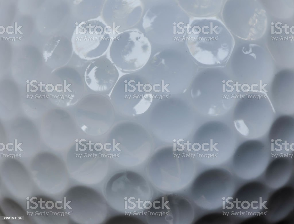 Close up of golf ball texture - Macro