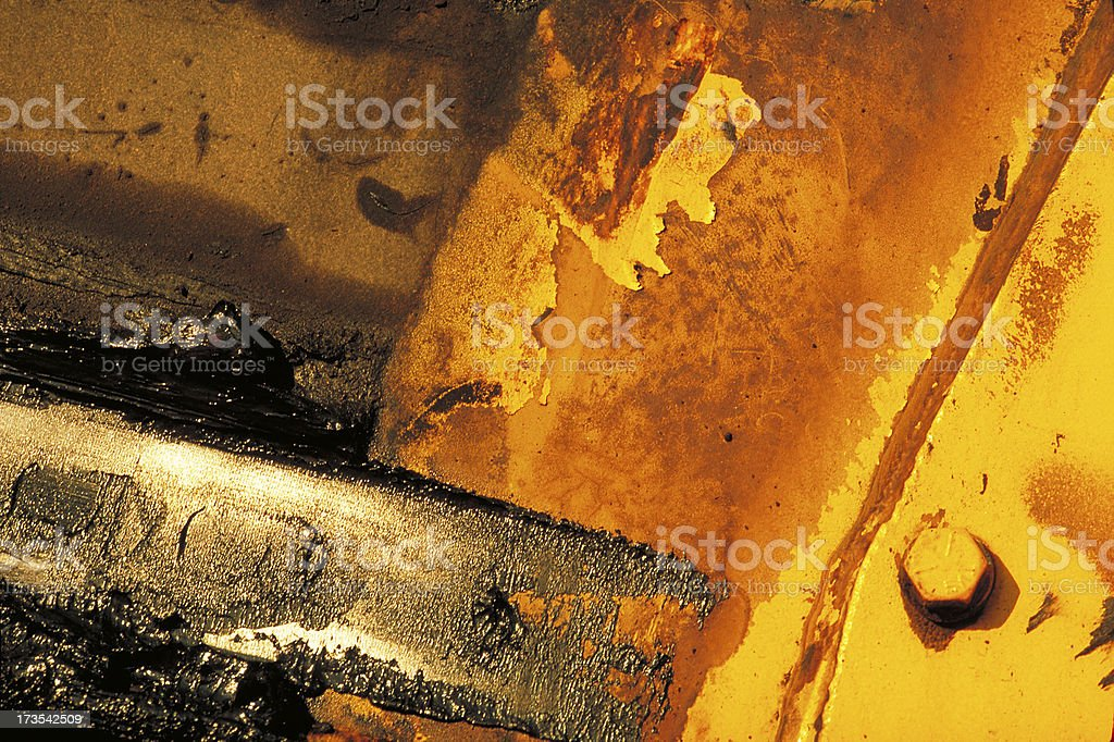 Close up of grease covered construction equipment royalty-free stock photo