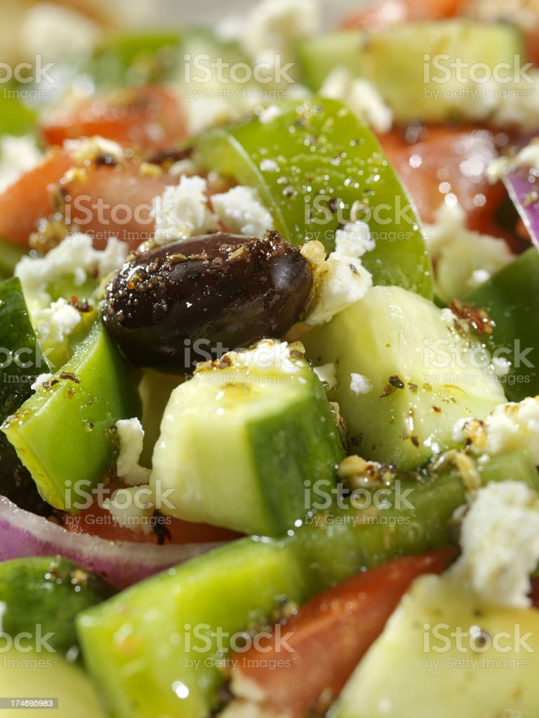 Close up of Greek Salad royalty-free stock photo