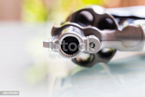 istock Close up of gun muzzle 480456083