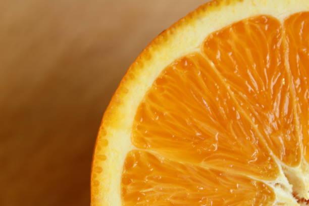 Close up of half orange stock photo