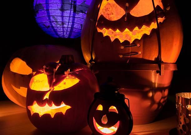 Zbliżenie halloween Dynia – zdjęcie